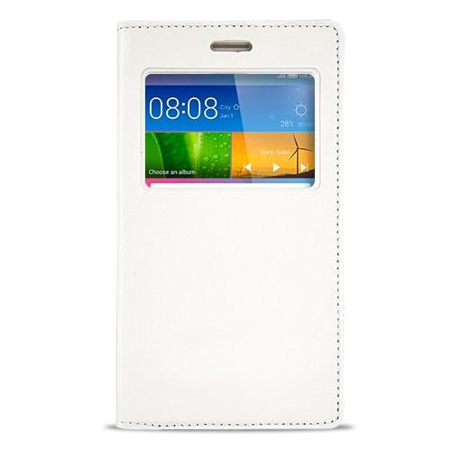Fitcase Dolce Huawei Gr5 Gizli Mıknatıslı Pencereli Kılıf Beyaz