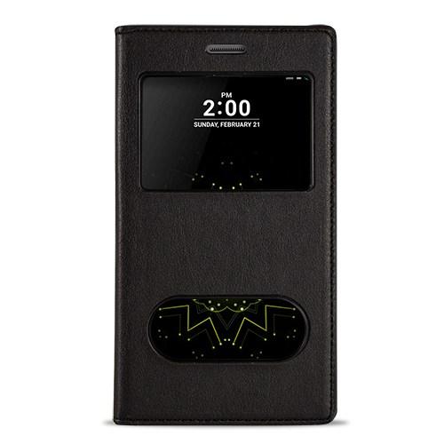 Fitcase Dolce Lg G5 H850 Gizli Mıknatıslı Pencereli Kılıf Siyah