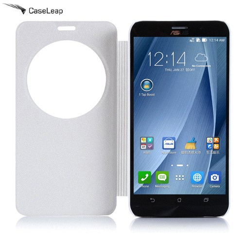 Case Leap Asus Zenfone 2 Ultra Flip Cover Beyaz (Uyku Modlu)
