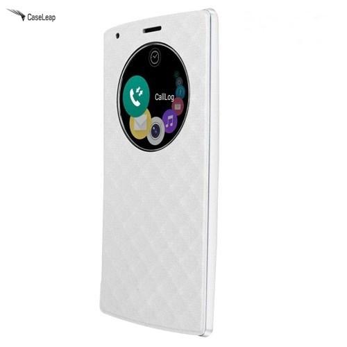 Case Leap Lg G4 Flip Cover Beyaz (Uyku Modlu)