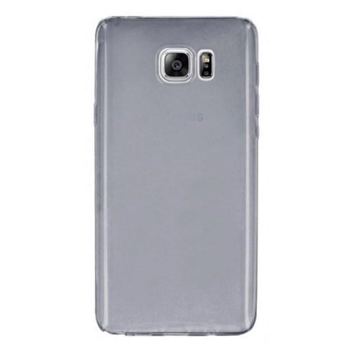 Case Leap Samsung Galaxy Note 5 İnce Silikon Kılıf Füme