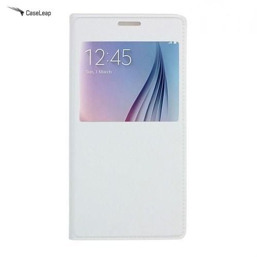 Case Leap Samsung Galaxy S7 Flip Cover Kılıf Beyaz