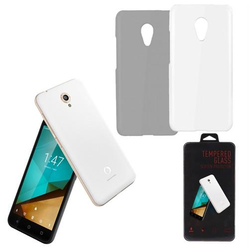 Melefoni Vadafone Smart Style 7 Kılıf Şeffaf Silikon Ekran Koruyucu