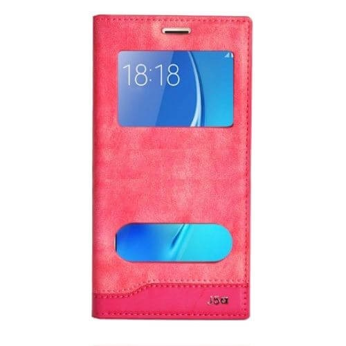 Teleplus Samsung Galaxy A5 2016 Yeni Çift Pencereli Kılıf Pembe