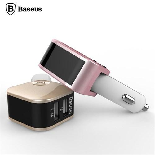 Techmaster Baseus Sadis Smart Çift Usb Çıkışlı Araç Şarj Cihazı