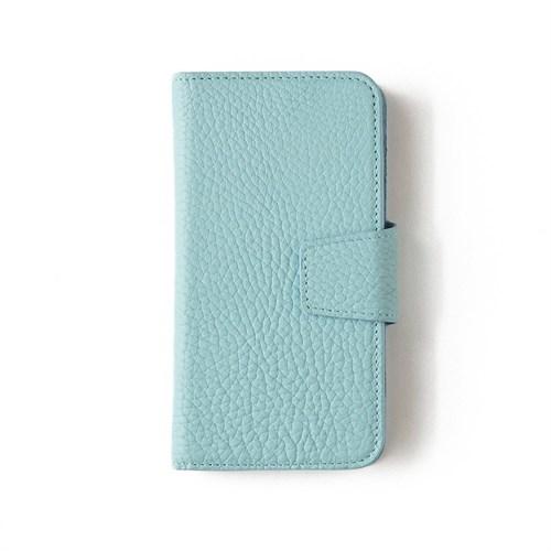 Açık Mavi Deri Kapaklı Telefon Kılıfı - Samsung Galaxy S6