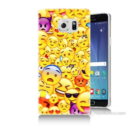 Teknomeg Samsung Galaxy Note 5 Kapak Kılıf Emoje Baskılı Silikon