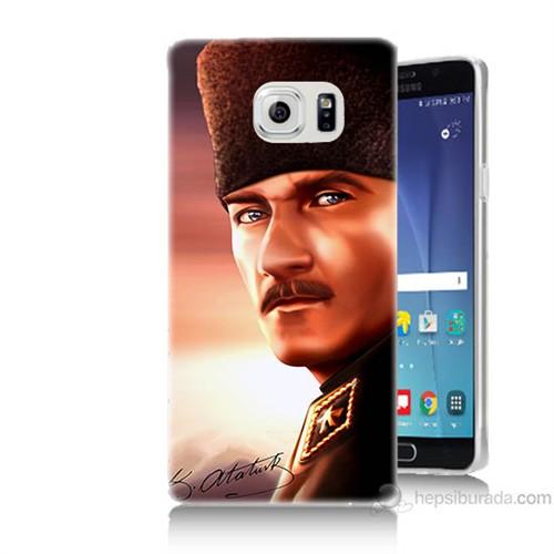 Teknomeg Samsung Galaxy Note 5 Kapak Kılıf Mustafa Kemal Baskılı Silikon