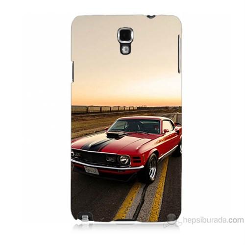 Teknomeg Samsung Galaxy Note 3 Neo Kapak Kılıf Araba Baskılı Silikon