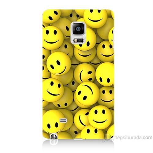 Teknomeg Samsung Galaxy Note Edge Kapak Kılıf Smile Baskılı Silikon
