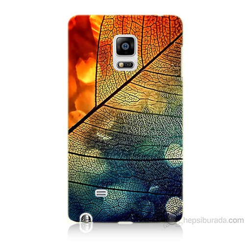 Teknomeg Samsung Galaxy Note Edge Kapak Kılıf Yaprak Baskılı Silikon