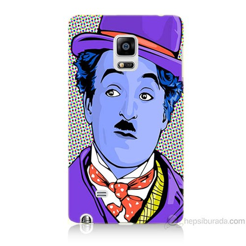 Teknomeg Samsung Galaxy Note Edge Kapak Kılıf Charlie Chaplin Baskılı Silikon