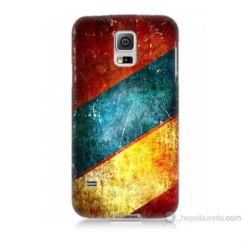 Teknomeg Samsung Galaxy S5 Kapak Kılıf Renkli Metal Baskılı Silikon