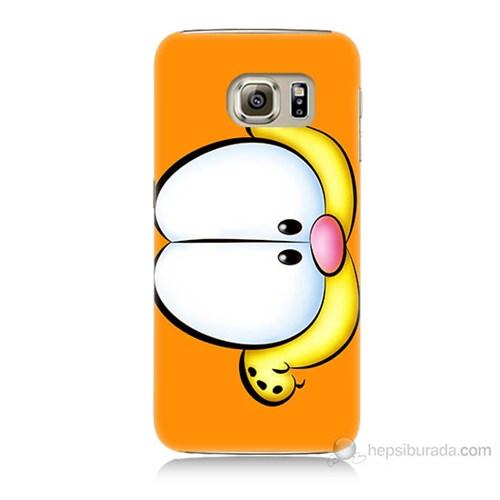 Teknomeg Samsung Galaxy S6 Kapak Kılıf Garfield Baskılı Silikon