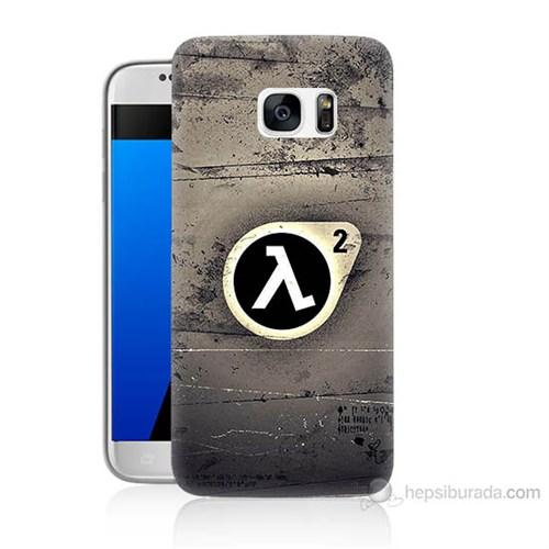 Teknomeg Samsung Galaxy S7 Kapak Kılıf Half Life Baskılı Silikon