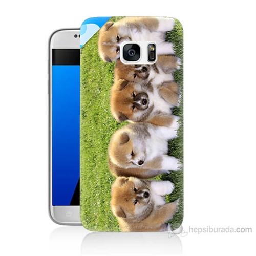 Teknomeg Samsung Galaxy S7 Kapak Kılıf Sevimli Köpek Baskılı Silikon