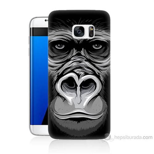 Teknomeg Samsung Galaxy S7 Edge Kapak Kılıf Goril Baskılı Silikon