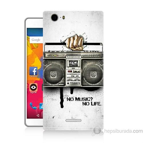 Teknomeg Casper Via M1 Kapak Kılıf Müzik Hayattır Baskılı Silikon