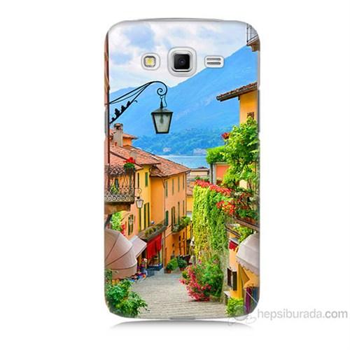 Teknomeg Samsung Galaxy Grand 2 Kapak Kılıf Balkon Manzara Baskılı Silikon