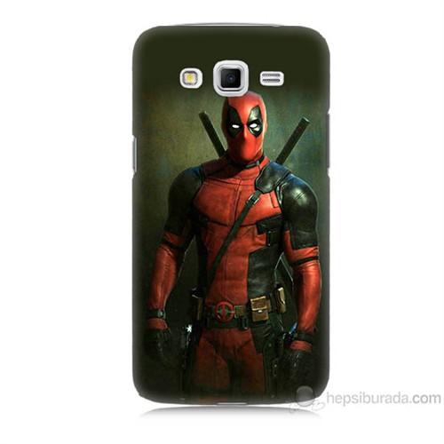 Teknomeg Samsung Galaxy Grand 2 Kapak Kılıf Deadpool Baskılı Silikon