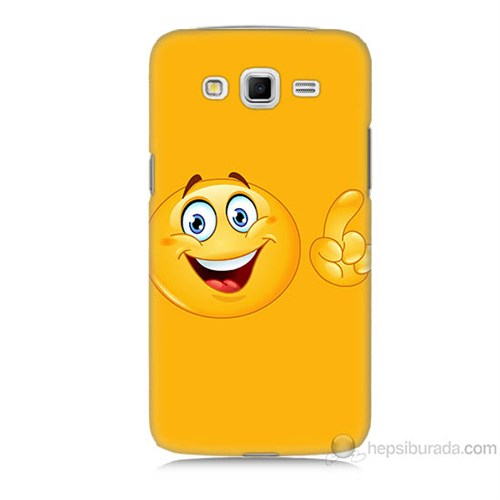 Teknomeg Samsung Galaxy Grand 2 Kapak Kılıf Emoji Baskılı Silikon