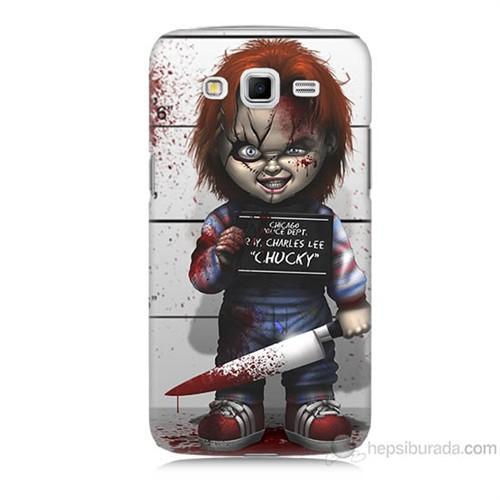 Teknomeg Samsung Galaxy Grand 2 Kapak Kılıf Chaki Baskılı Silikon