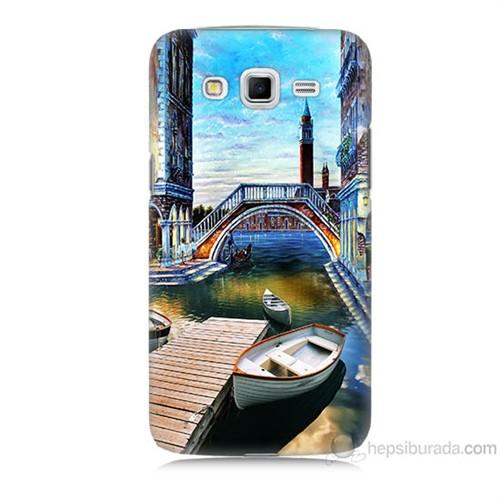 Teknomeg Samsung Galaxy Grand 2 Kapak Kılıf Tekneler Tablo Baskılı Silikon