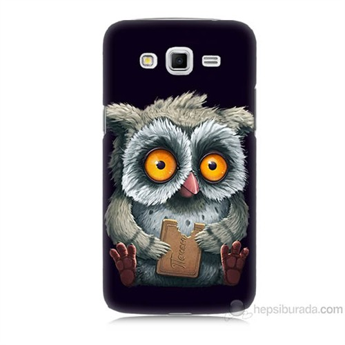 Teknomeg Samsung Galaxy Grand 2 Kapak Kılıf Yavru Baykuş Baskılı Silikon