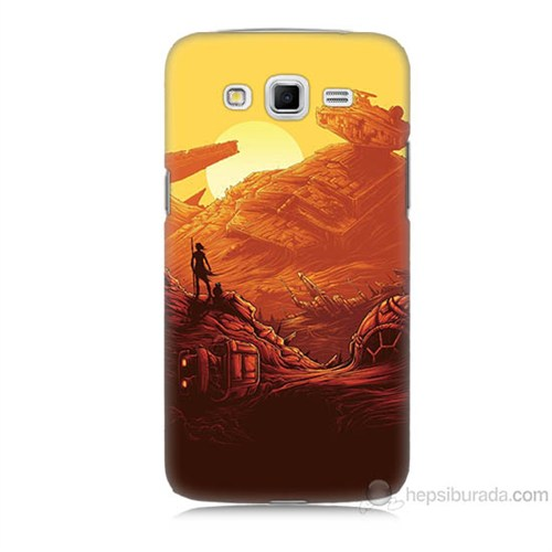 Teknomeg Samsung Galaxy Grand 2 Kapak Kılıf Star Wars 7 Baskılı Silikon