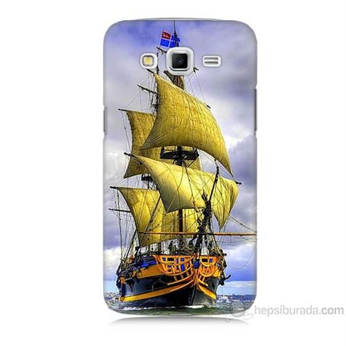 Teknomeg Samsung Galaxy Grand 2 Kapak Kılıf Gemi Baskılı Silikon