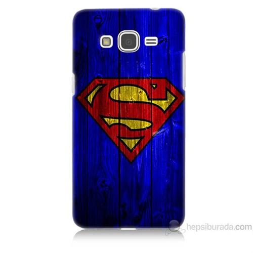 Teknomeg Samsung Galaxy Grand Prime Kapak Kılıf Superman Baskılı Silikon