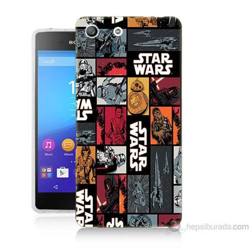 Teknomeg Sony Xperia M5 Kapak Kılıf Star Wars Baskılı Silikon