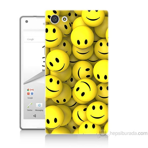 Teknomeg Sony Xperia Z5 Mini Kapak Kılıf Smile Baskılı Silikon