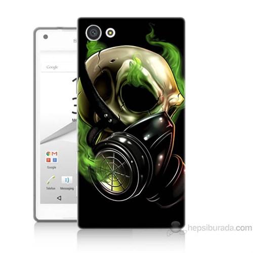 Teknomeg Sony Xperia Z5 Mini Kapak Kılıf Ölüm Maskesi Baskılı Silikon
