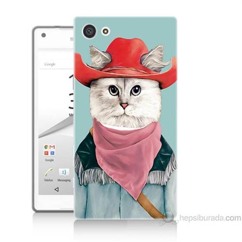 Teknomeg Sony Xperia Z5 Premium Kapak Kılıf Çizmeli Kedi Baskılı Silikon