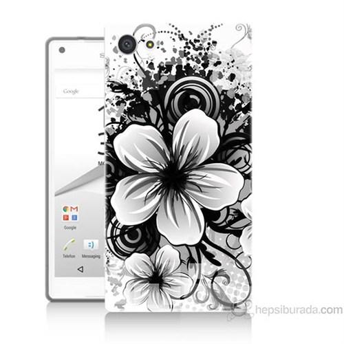 Teknomeg Sony Xperia Z5 Premium Kapak Kılıf Manolya Baskılı Silikon
