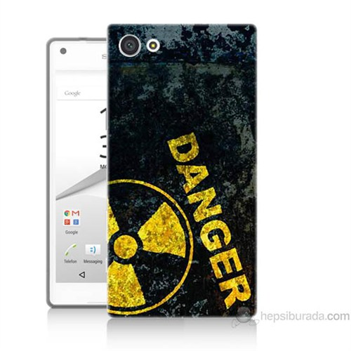 Teknomeg Sony Xperia Z5 Premium Kapak Kılıf Tehlikeli Baskılı Silikon