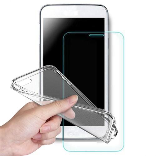 Volpawer Samsung Galaxy J3 Kırılmaz Cam Ekran Koruyucu Filmi + Silikon Kılıf
