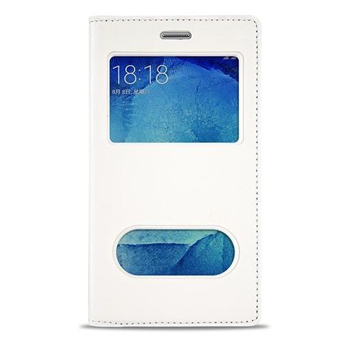 Volpawer Samsung Galaxy S7 Gizli Mıknatıslı Pencereli Kılıf Beyaz