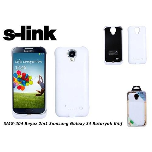 S-Link Smg-404 Beyaz 2İn1 Samsung Galaxy S4 Bataryalı Kılıf