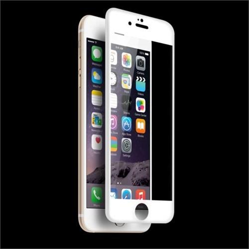 Bestsuit Apple İphone 6/6S Plus Curved 3D Full Fit Ekran Koruyucu-Beyaz