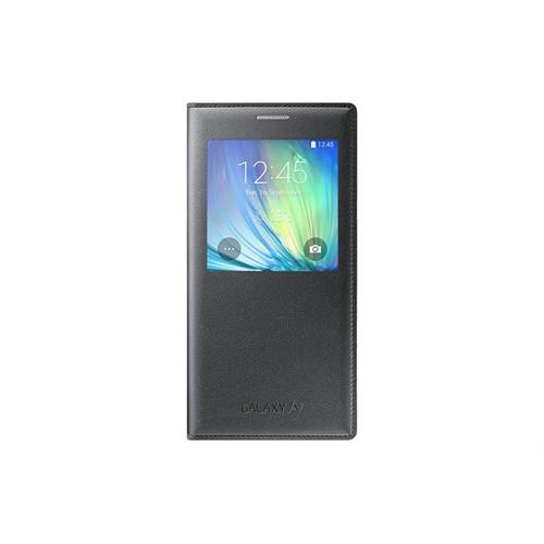 Samsung Galaxy A7 S View Kapakl Kılıf-Siyah