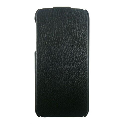 Kucipa Apple İphone 5/5S Siyah Kapaklı Deri Kılıf