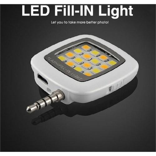 Zen-Tech Akıllı Telefon Kamera Aydınlatıcı Led Işık-Beyaz