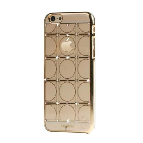 Umku Gold Zirkon Taşlı Iphone 6 Kapak-Circle