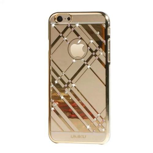 Umku Gold Zirkon Taşlı İphone 6 Kapak-Geometrik