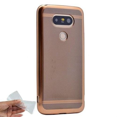 Teleplus Lg G5 Noktalı Silikon Kılıf Gold