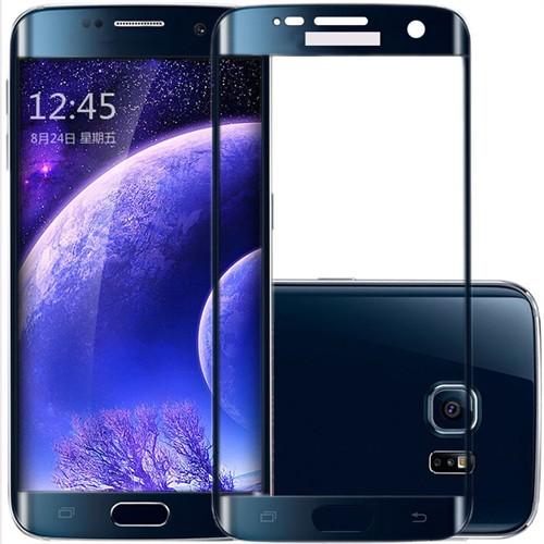 İdealtrend Samsung S6 Edge Plus 3D Kavisli 9H Temperli Cam Ekran Koruyucu Siyah