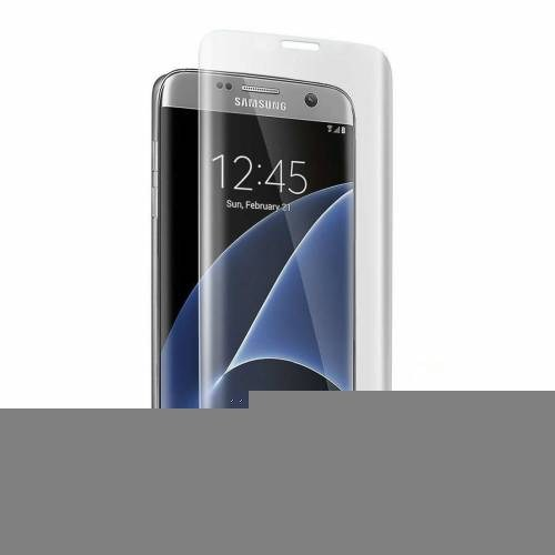 İdealtrend Samsung S6 Edge Plus 3D Kavisli 9H Temperli Cam Ekran Koruyucu Şeffaf