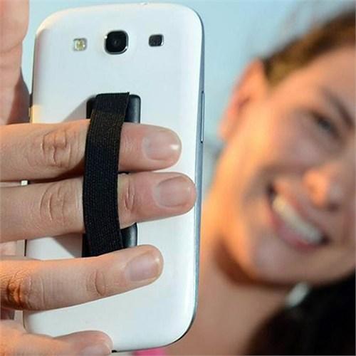 Coverzone Lastikli Telefon Tutucu Pamak Kontrol Siyah